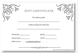 Free Gift Certificate Templateucher To Print Printable