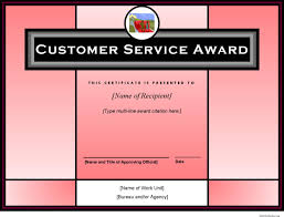 customer service award template download customer service award template for free tidyform
