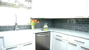 grey and white tile gray subway with light grout backsplash glass