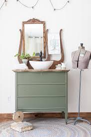 repurposed dresser converted to