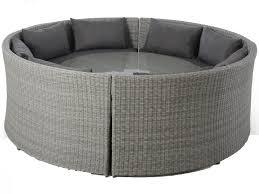 maze rattan ascot round sofa dining set