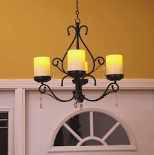 antique candle chandelier round pillar farmhouse rustic