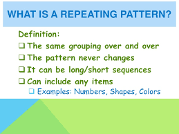 Patterns Definition Enchanting Repeating And Growing Patterns