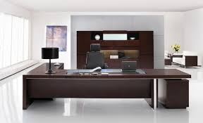 modern office desk. Modern Office Desks Ideas With Brown Wooden Executive Desk In L Shape