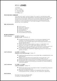 Entry Level Lab Resume Resume For Arts Student