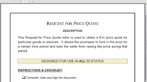 Quote Price Request for Price Quote 63