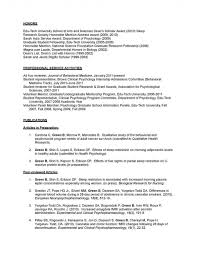 Psychology Resume Examples Interesting Psychology Cover Letter 48 Psychology Researcher Sample Resume Sample