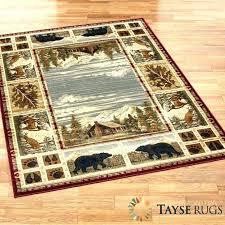 lodge themed area rugs persian weavers deer believe rug rustic cabin