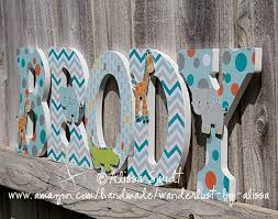 Wooden Letters Design Amazon Com Jungle Animals Custom Nursery Wooden Letters Baby