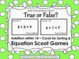 48 free true or false equation cards addition within 10 includes everything you need