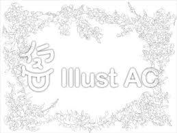 花フレーム線画イラスト No 489914無料イラストならイラストac
