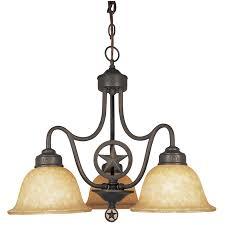 portfolio texas star 22 87 in 3 light dark bronze rustic chandelier