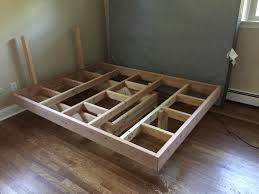 Floating Bed Frame With Tools And Detailed Steps Diy Of Platform  Inspirations
