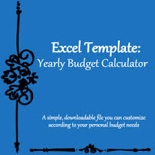 Excel Templates: Yearly Budget Calculator Spreadsheet