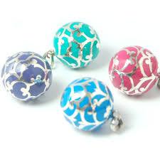 silver and coloured enamel harmony ball pendant 14 mm
