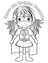 Small Picture Personalized Printable SuperHero Girl Birthday Party Favor