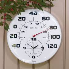 giant outdoor thermometer clock regarding with inspirations 7