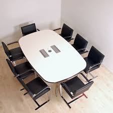 office conference table design. Vitra Eames Meeting Table Seats Eight | White With Plug Sockets Office Conference Design