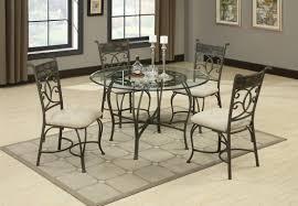 sheridan grey metal and glass dining table set