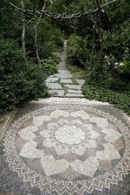 Garden Path Made Of Broken Tiles  Stepables  Pinterest Mosaic Garden Path