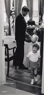 jfk in oval office. President John F. Kennedy With His Children In The Oval Office At White House. Jfk