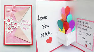Mother Day Card Diy Mothers Day Card Mothers Day Pop Up Card Making Pop Up Balloon