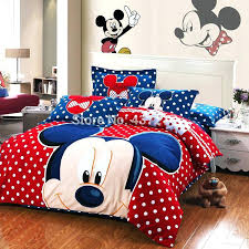 mickey mouse bed set new mickey mouse polka dots red blue bedding set warm brushed cotton mickey mouse bed set