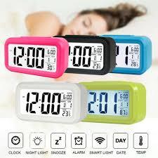 <b>LED Digital Electronic</b> Snooze Alarm Clock Backlight Time Calendar ...