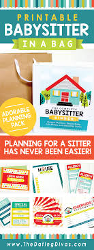 babysitter activities for kids camping edition babysitter binder