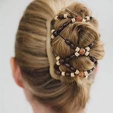 <b>Magic</b> Wooden EZ Stretchy Double Clips, Elegant <b>Hair</b> Clamp <b>Comb</b> ...
