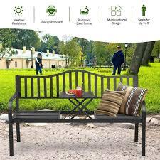 casainc 2 person metal outdoor bench