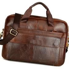luxury business briefcase handbag messenger laptop shoulder genuine leather men s bag