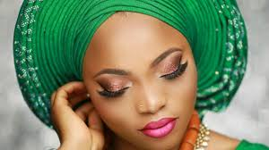 nigerian bridal makeup tutorial pleated gele