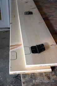 diy rustic folding shelf all things