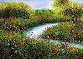 landscape paintings painting spring landscape by daurea giovanni