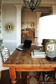 home office home office makeover emily. Home Office Farmhouse Table Makeover Emily O