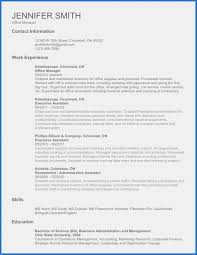 One Page Resume Format Doc Template Cv Template Word Doc Original Template Word Doc