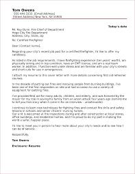 Firefighter Cover Letter Sample