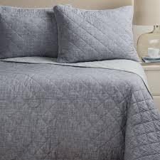 Artisan De Luxe Diamond Slub-Cotton Quilt Set - Full-Queen - Save 50% & Artisan De Luxe Diamond Slub-Cotton Quilt Set - Full-Queen in Dark Slate ... Adamdwight.com