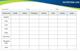 Sample Food Logs Food Diary Example Sample Log Waste Soulective Co