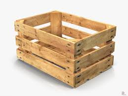 wooden fruit crate royalty free 3d model preview no 1