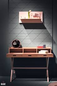 wonderful desks home office. View In Gallery Slim Desk With Smart Drawers For The Home Office From Harto Wonderful Desks
