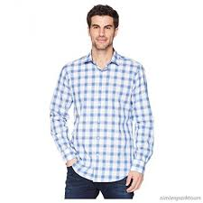 Bugatchi Shaped Fit Woven Shirt Mens Casual Button Up
