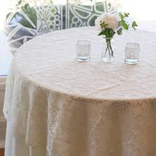 Burlap Round Table Overlays Round Lace Table Overlay 60 Inches Ivory Lace Tablecloth Ivory