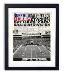 Vintage Print Of Ralph Wilson Football Stadium By Clavininc