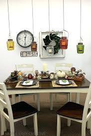 fall dining table decorations room