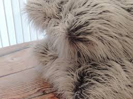 custom made mongolian grey frost faux fur 18 x 18 in decorative pillow set