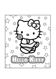 A beautiful picture full of hello kitty! Free Printable Hello Kitty Coloring Pages Coloring Home