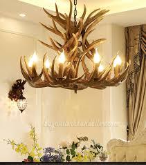 18 cast elk antler chandelier cascade 9 candle style pendant light rustic ceiling lighting home