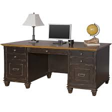 Kathy Ireland Living Room Furniture Kathy Ireland Home By Martin Hartford Double Pedestal Desk With